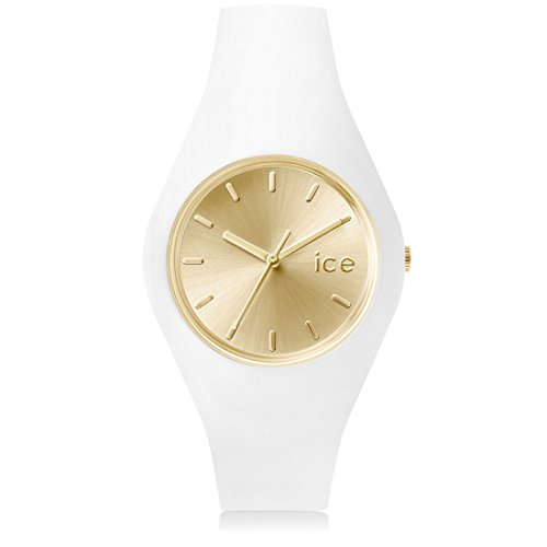Ice Watch ICE chic White Gold Weisse mit Silikonarmband 001393 Medium