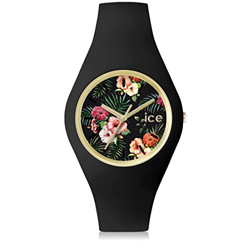 Ice Watch ICE flower Colonial Schwarze mit Silikonarmband 001438 Small