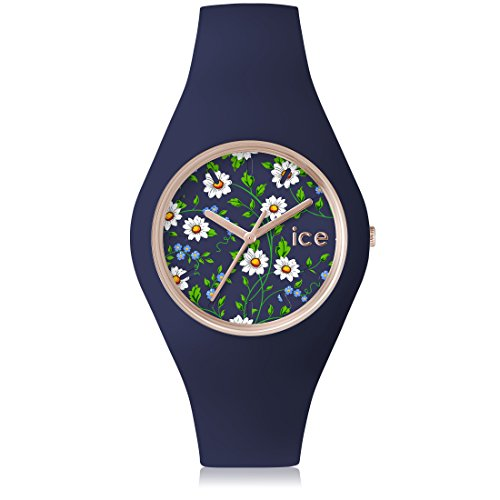 Ice Watch ICE flower Daisy Blaue mit Silikonarmband 001301 Medium