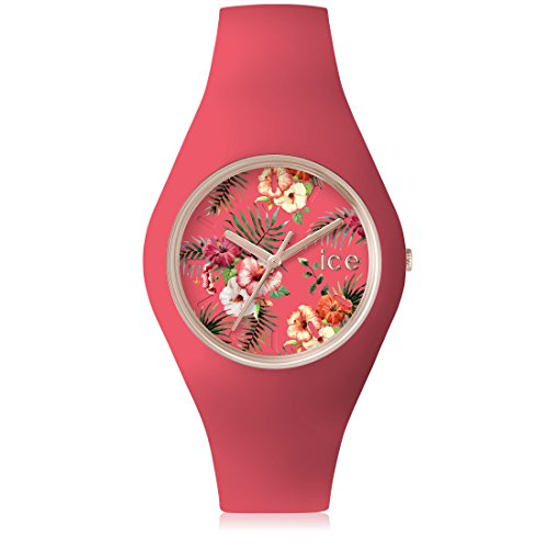 Ice Watch ICE flower Delicious Rosa mit Silikonarmband 001306 Medium