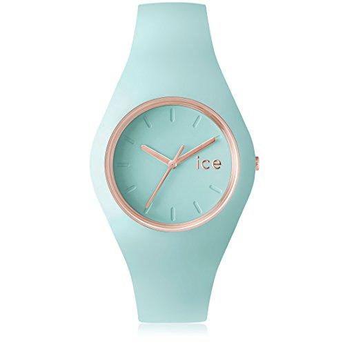 Ice Watch ICE glam pastel Aqua Gruene mit Silikonarmband 001068 Medium