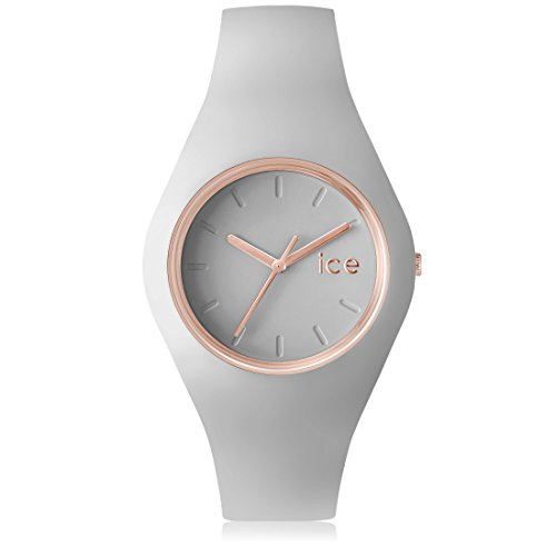 Ice Watch ICE glam pastel Wind Graue mit Silikonarmband 001070 Medium