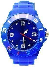 Premium BLAU SILIKON UHR XL Mode UNISEX Armbanduhr Sport STYLE Trend WATCH stark in der Mode Qualitaets Uhren Top Qualitaet Absolutes Must Have Keine billig Farbe in BLAU von Avcibase