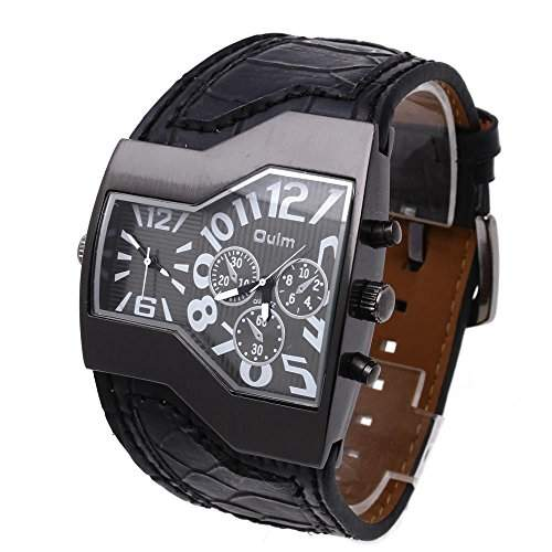 Modisch OULM Russisch Armee Militaer Dual Uhrwerk Herrenuhr Sportuhr Armbanduhr