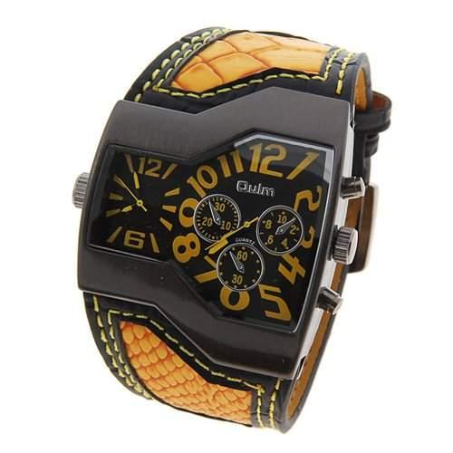 Coxeer® Oulm Quartz Analog Armbanduhr Maenner Military-Sport-Uhr