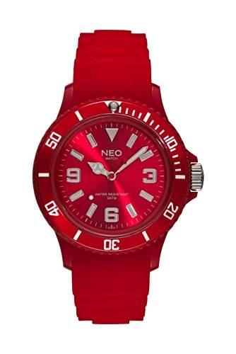 NEO watch NICE-1 Red Unisex Armbanduhr Kunststoff Silikonband N1-010