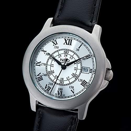 NEO watch SILVER ROMANCE Damenuhr Armbanduhr Datum Edelstahlgehaeuse Lederarmband Silber Analog Quarz N5-016