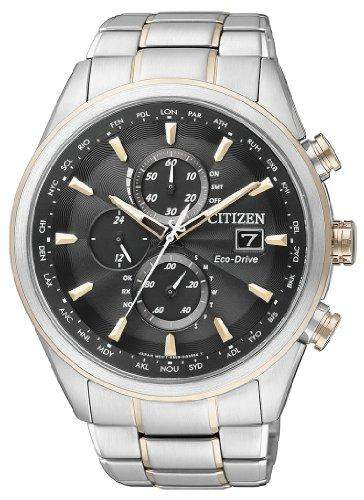 Citizen Herren-Armbanduhr Analog Quarz Edelstahl beschichtet AT8017-59E