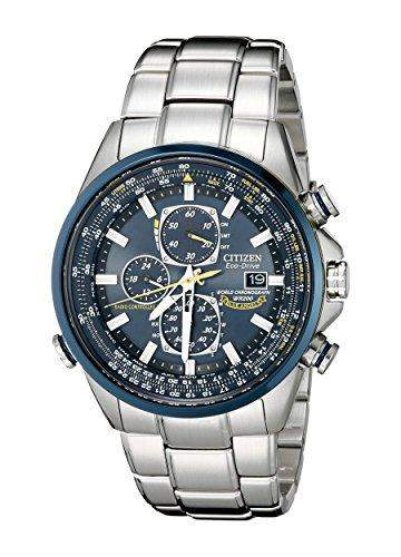 CITIZEN BLUE ANGELS MENS STAINLESS STEEL CASE CHRONOGRAPH DATE UHR AT8020-54L
