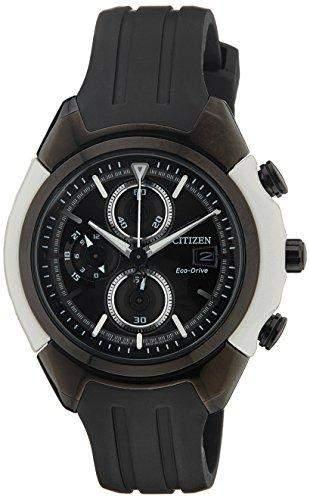 Citizen Dome Herren-Armbanduhr XL Chronograph Quarz Resin CA0286-08E