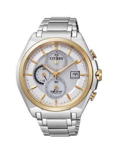 Citizen Herren-Armbanduhr XL Super Titanium Chronograph Titan CA0355-58A