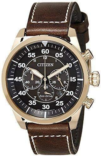 Citizen Herren-Armbanduhr Chronograph Quarz Leder CA4213-00E
