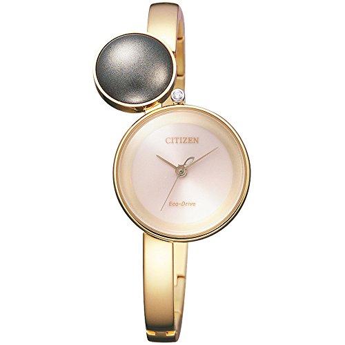 Uhr Citizen ambiluna ew5493 51 W Solar Edelstahl vergoldet pink Quandrante Creme Armband Stahl