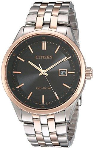 Citizen Herren bm7256 50E modernes Citizen Eco Drive bicolor Edelstahl Armband Armbanduhr