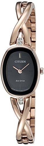 Citizen CITIZEN ECO DRIVE Damen Silhouette Quarz Edelstahl casual Uhr Farbe rose goldfarbenem Modell ex1413 55E