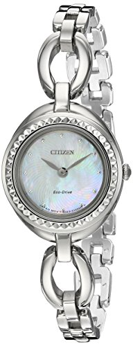 Citizen CITIZEN ECO DRIVE Damen Silhouette Quarz Edelstahl casual Uhr Farbe silberfarbene Modell ex1440 690