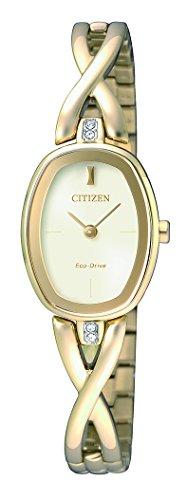 Citizen Damen Armbanduhr Analog Quarz Edelstahl beschichtet EX1412 82P
