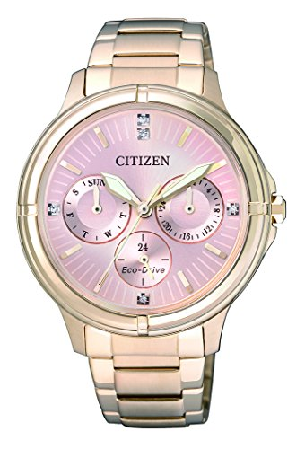Citizen Damen Armbanduhr Analog Quarz Edelstahl beschichtet FD2033 52W