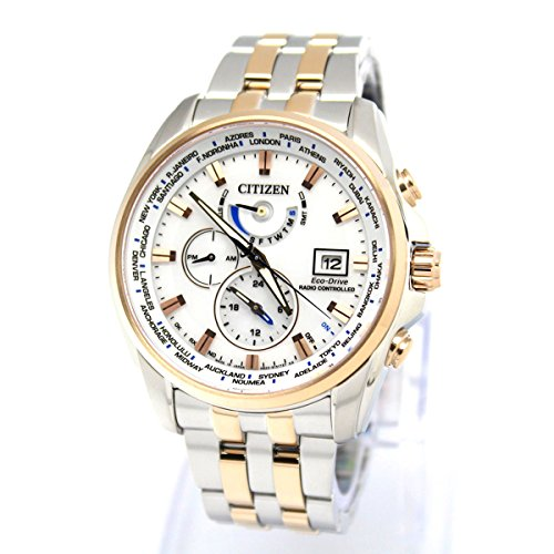 Citizen Eco Drive Radio Controlled Two Tone Chronograph Gents AT9035 51A