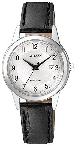 Chrono Solaruhr Citizen Eco Drive Sports Armbanduhr mit Lederarmband FE1081 08A