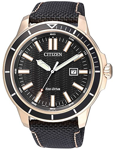 Solaruhr Citizen Eco Drive Sports Herrenuhr Armbanduhr mit Textilarmband AW1523 01E