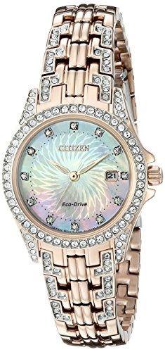 Citizen CITIZEN ECO DRIVE Damen EW1228 53D Silhouette Kristall Armbanduhr