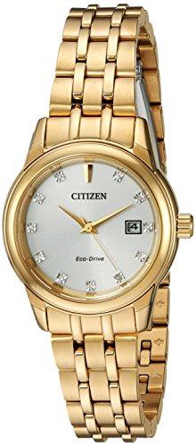 Citizen CITIZEN ECO DRIVE ew2392 54 A Damen Ohrringe goldfarben Kristall Armbanduhr w Datum
