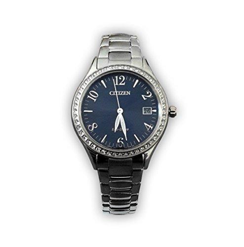 Uhr Citizen Citizen Lady Citizen L eo1180 82L Solar Edelstahl Quandrante blau Armband Stahl