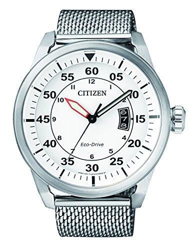 Citizen Herren Armbanduhr Analog Quarz Edelstahl AW1360 55A