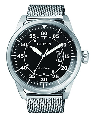 Citizen Herren Armbanduhr Analog Quarz Edelstahl AW1360 55E
