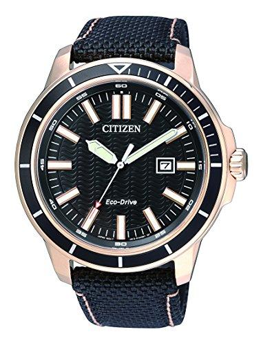 Citizen Herren Armbanduhr Analog Quarz Textil AW1523 01E