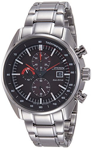 Citizen Herren Armbanduhr Chronograph Quarz Edelstahl CA0590 58E