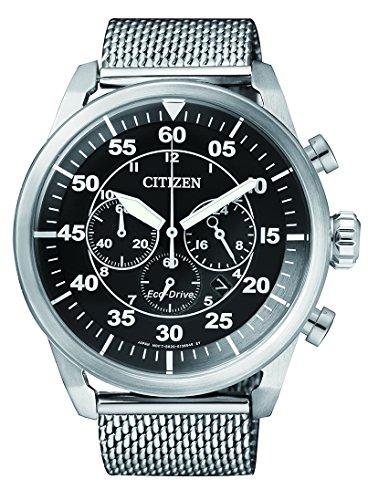 Citizen Herren Armbanduhr Chronograph Quarz Edelstahl CA4210 59E