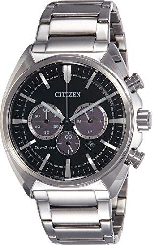 Citizen Herren Armbanduhr Chronograph Quarz Edelstahl CA4280 53E