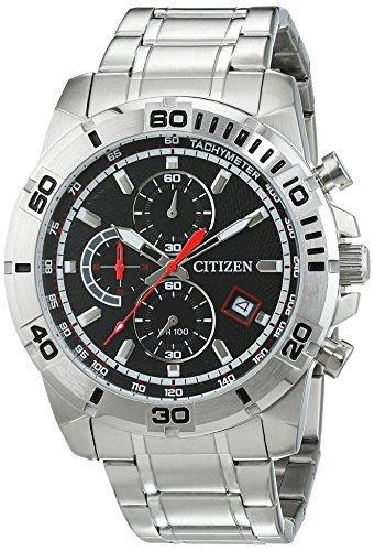 Citizen Herren Armbanduhr Chronograph Quarz AN3490 55E