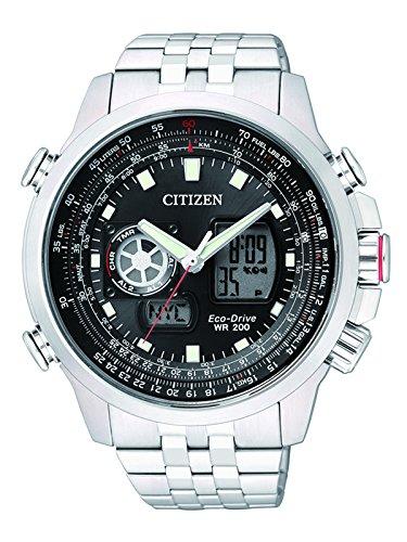 Citizen XL Promaster Sky Analog Digital Quarz Edelstahl JZ1060 50E