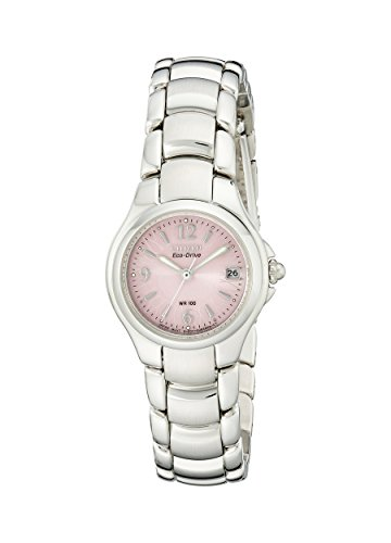 CITIZEN SILHOUETTE WOMENS STAINLESS STEEL CASE DATE UHR EW1170 51X