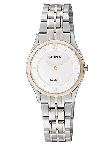 Citizen Damen-Armbanduhr XS Analog Quarz Edelstahl beschichtet EG3225-54A