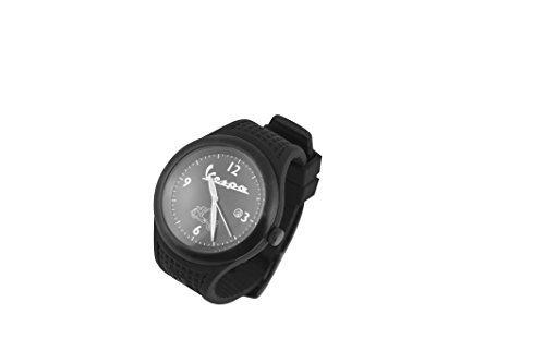 FORME VESPA Vintage schwarz Armband Silikon Uhrwerk Citizen und Schluesselanhaenger VESPA 98 in Geschenkbox