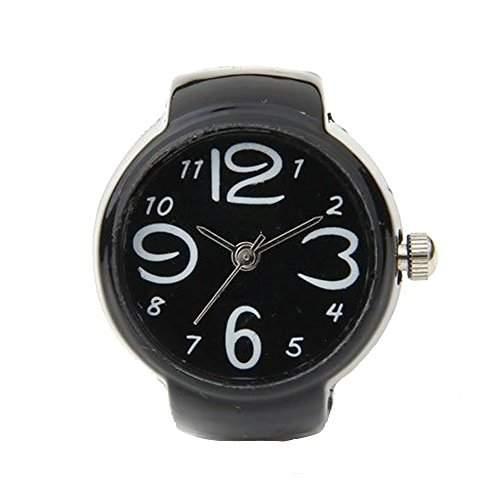 SODIALR 22mm Rund Ringuhr Finger Uhr Fingeruhr Uhrenring Metall TOP