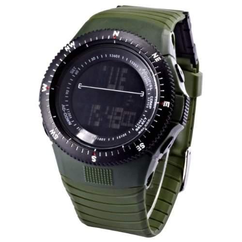 Unisex HOTARU LED Digital Uhr LCD Quarzuhr Grün Armbanduhr Jelly Watch