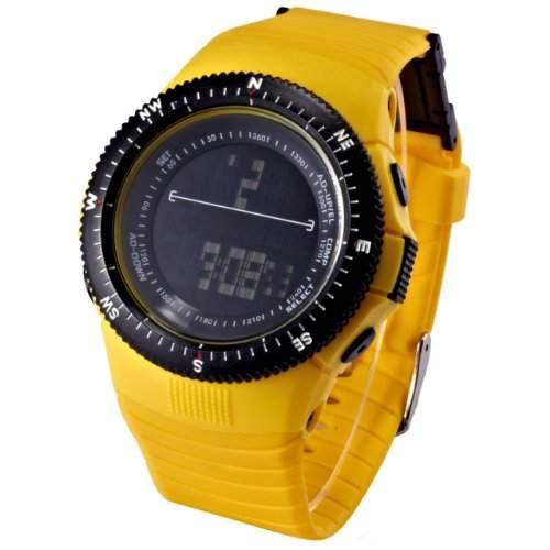 AMPM24 Unisex HOTARU LED Digital Uhr LCD Quarzuhr Gelb Armbanduhr Jelly Watch HTR212-S