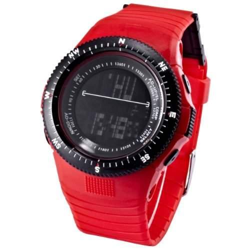 AMPM24 Unisex HOTARU LED Digital Uhr LCD Quarzuhr Rot Armbanduhr Jelly Watch HTR213-S