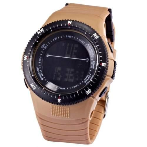 AMPM24 Unisex HOTARU LED Digital Uhr LCD Quarzuhr Braun Armbanduhr Jelly Watch HTR215-S