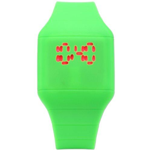 TOUCH Screen LED Digital Uhr Quarzuhr Damen Gruen Armbanduhr