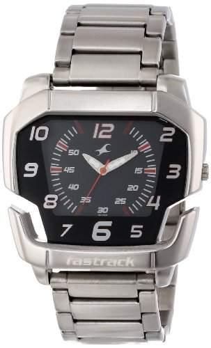 Fastrack Herren 3079SM02 Large Metal Analog Quartz Armbanduhr