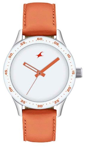 Fastrack Monochrome Analog White Dial Womens Watch 6078SL04