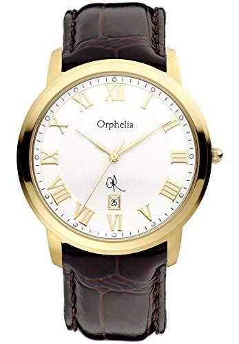 Orphelia Herren-Armbanduhr XL Analog Leder 132-6706-83