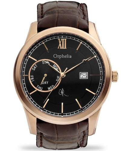 Orphelia Herren-Armbanduhr XL Analog Leder 132-6707-43
