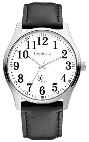 Orphelia Herren-Armbanduhr XL Analog Leder 155-6700-14